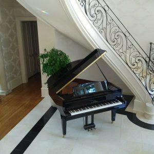 Brand new Terrific sounding German design grand piano & Yamaha bench