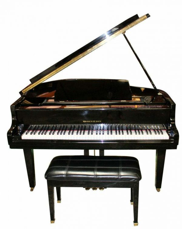 1990's Polished black 4'7 baby grand piano