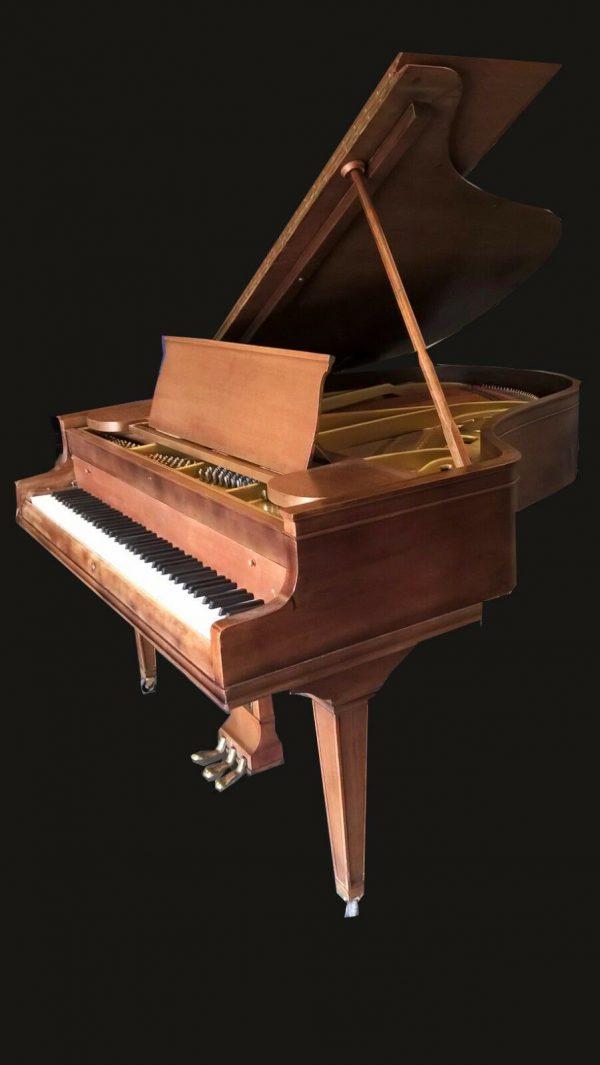 Chickering baby grand piano & Steinway stool.