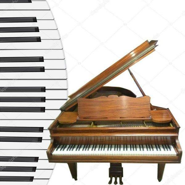 Chickering & Sons baby grand piano + Steinway stool.