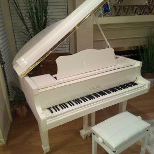 Brand new White 4'7 baby grand piano ( Wholesale )