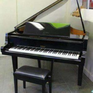 Magnificent PETROF baby grand piano model V & Steinway key felt cover