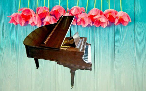 Baldwin Model R baby grand piano (watch video w/Yamaha c7 HQ mics)