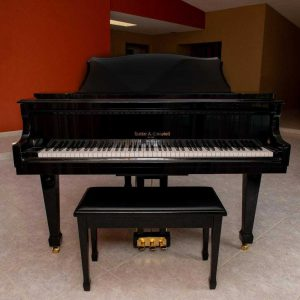2013 one owner baby grand piano & Yamaha key cover